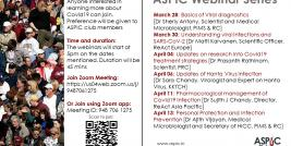 ASPIC Webinar Series Flyer